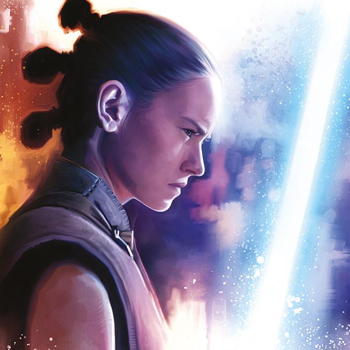 Leinwand Poster, Bilder Star Wars: Die letzten Jedi - Rey Lightsaber ...
