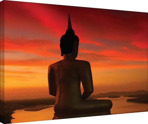 Leinwand Poster Stuart Meikle - Sun Setting over the Mekong