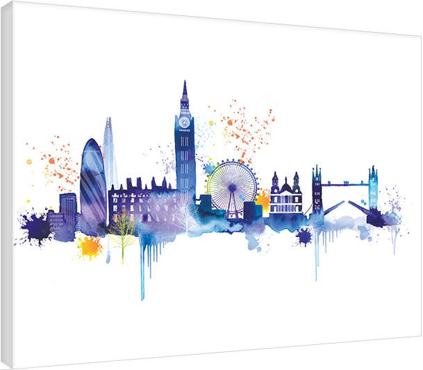 leinwand poster bilder summer thornton london skyline. Black Bedroom Furniture Sets. Home Design Ideas