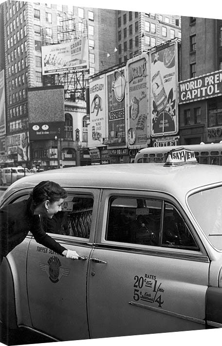 Leinwand Poster Bilder Time Life Audrey Hepburn Taxi Bei
