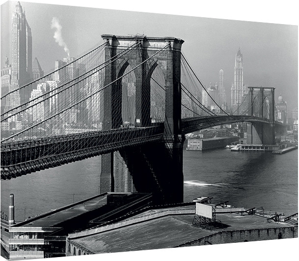 leinwand poster bilder time life brooklyn bridge new. Black Bedroom Furniture Sets. Home Design Ideas