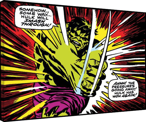 Hulk - Smash Through Lerretsbilde