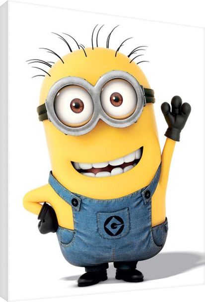 Minions (Despicable Me) - Minion Wave Lerretsbilde