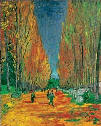 Les Alyscamps, 1888 Reproduction d'art