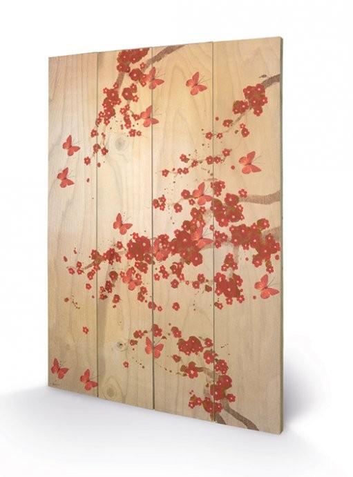 Bild auf Holz Lily Greenwood - Butterflies & Blossoms