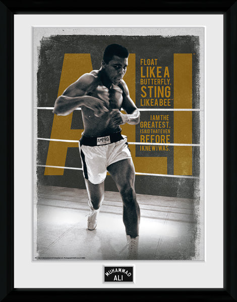 Muhammad Ali – Quotes 30x40cm Collector Print locandine Film in Plexiglass
