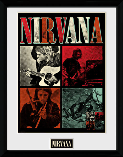 Nirvana - Squares Poster Incorniciato