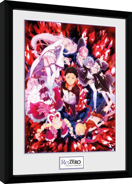 Re-Zero - Key Art Poster Incorniciato