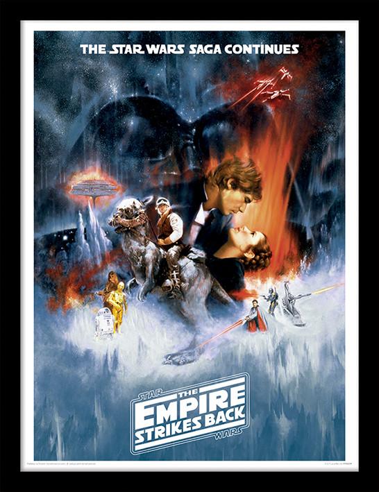 Poster incorniciato Star Wars: L'Impero Colpisce Ancora - One Sheet