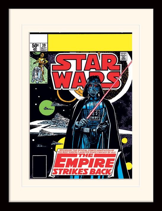 Poster incorniciato Star Wars - Vader Strikes Back