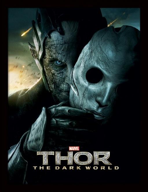 THOR 2 - malekith mask Poster Incorniciato