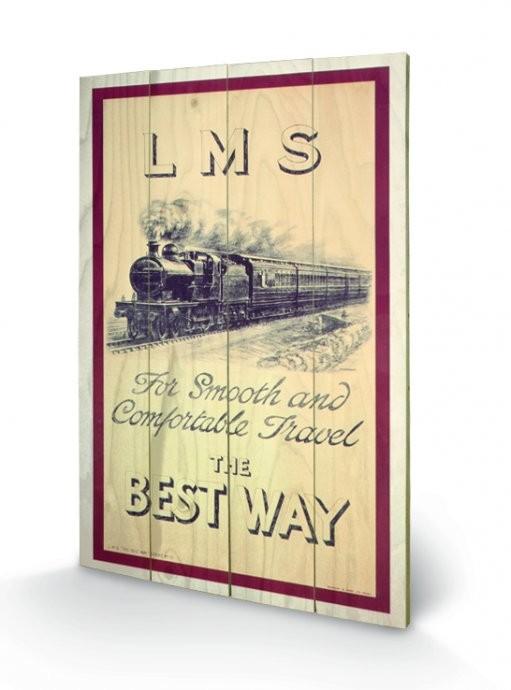 Poster su legno Locomotiva a vapore - LMS