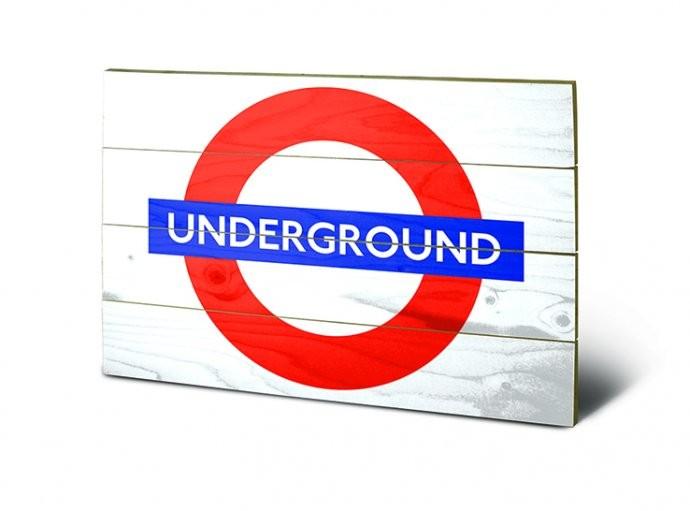 Målning på trä London - Underground Sign