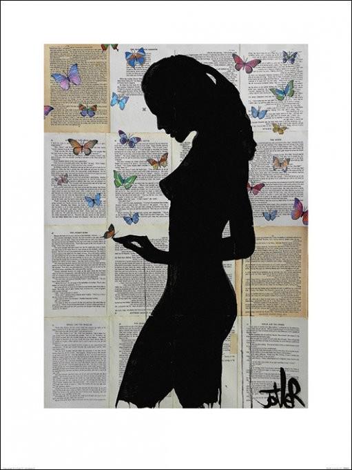Loui Jover - Butterflies Festmény reprodukció