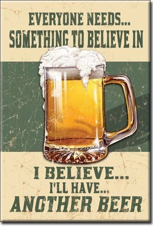 BELIEVE IN SOMETHING Magnet