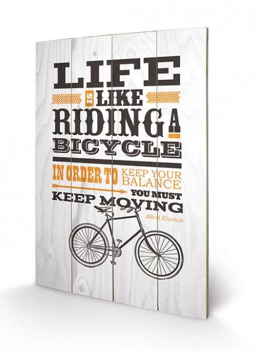 Målning på trä Asintended - Riding A Bicycle
