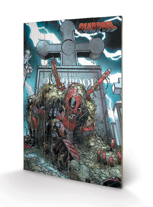 Målning på trä Deadpool - Grave