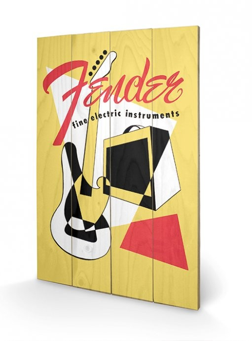 Målning på trä Fender - Abstract
