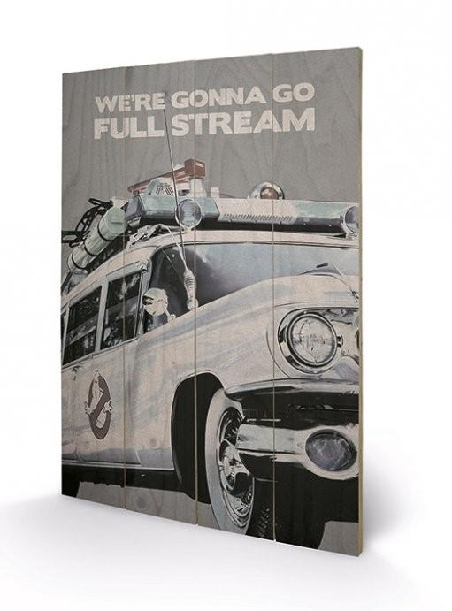 Målning på trä Ghostbusters - EctoMobile