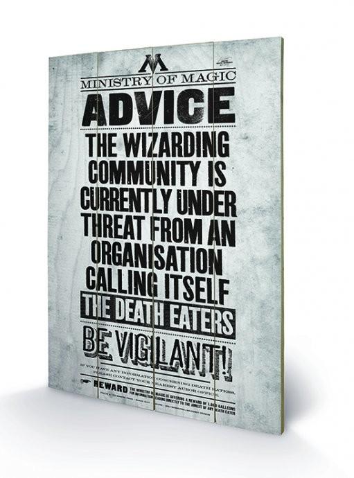 Målning på trä Harry Potter - Be Vigilant