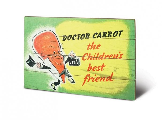 Tavla i trä IWM - doctor carrot