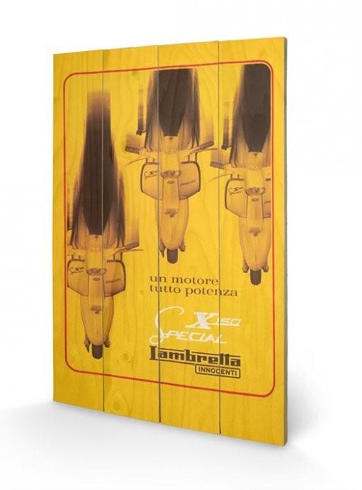 Tavla i trä Lambretta - X150 Special