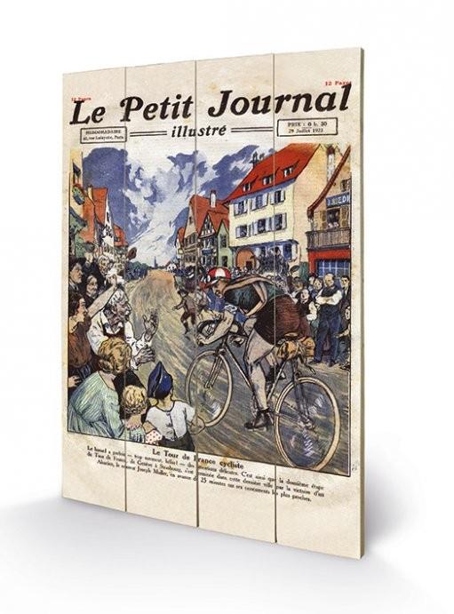 Målning på trä Le Tour de France - Le Petit Journal