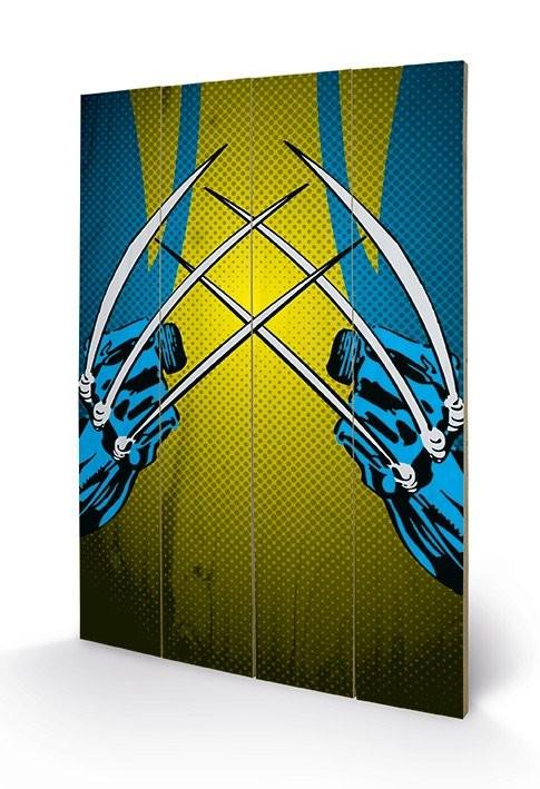 Målning på trä Marvel Comics - Wolverine Claws