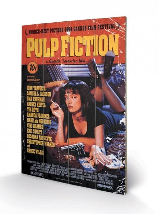 Målning på trä Pulp Fiction - Cover