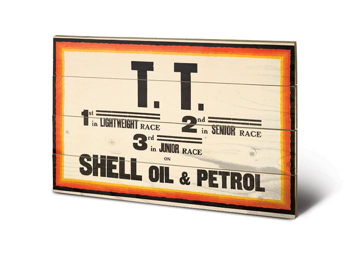 Målning på trä Shell - TT