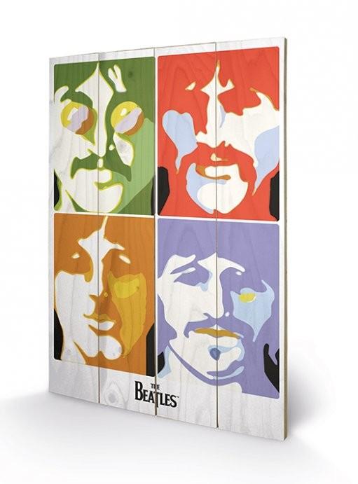 Tavla i trä The Beatles - Sea of Science