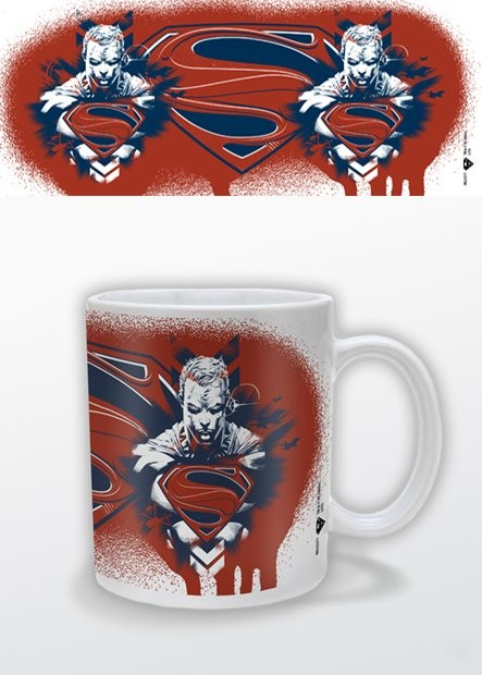 Mugg Man of Steel - red white blue