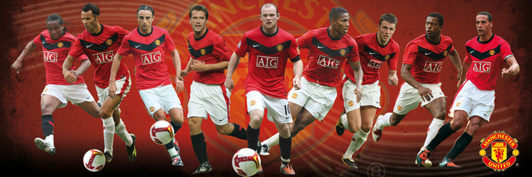 Manchester United - players 09/10 - плакат (poster)