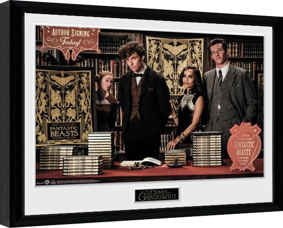 Animales fantásticos: Los crímenes de Grindelwald - Book Signing Poster enmarcado