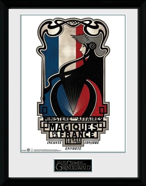 Animales fantásticos: Los crímenes de Grindelwald - Magiques de la France Poster enmarcado