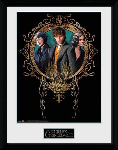 Animales fantásticos: Los crímenes de Grindelwald - Trio Poster enmarcado