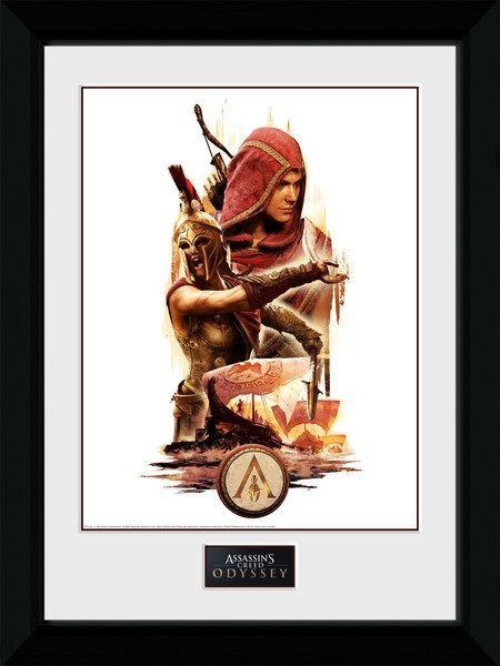Assassins Creed Odyssey - Collage Poster enmarcado