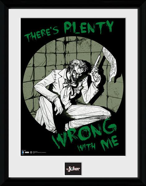 Poster enmarcado Batman Comic - Joker Plenty Wrong