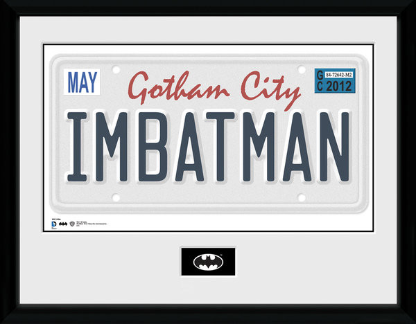 Batman Comic - License Plate Poster enmarcado