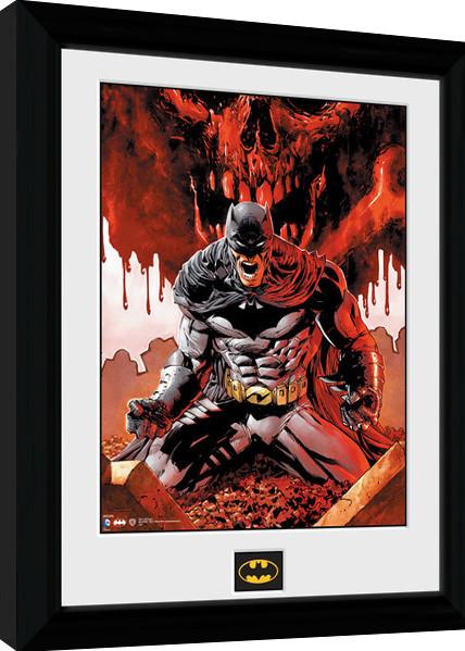 Batman Comic - Seeing Red Poster enmarcado