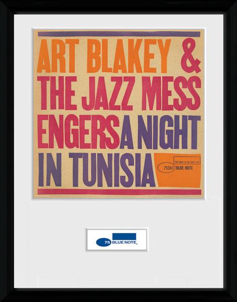 Blue Note - Tunisia Poster enmarcado