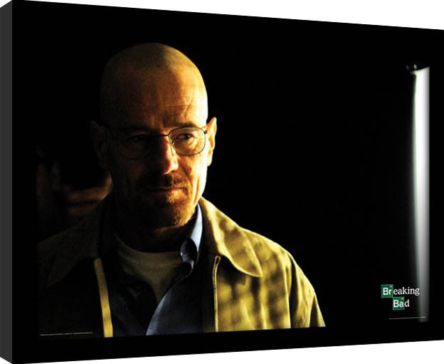 BREAKING BAD - walter shadowy Poster enmarcado