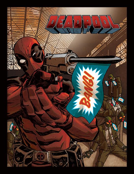 Deadpool - Bang Poster enmarcado