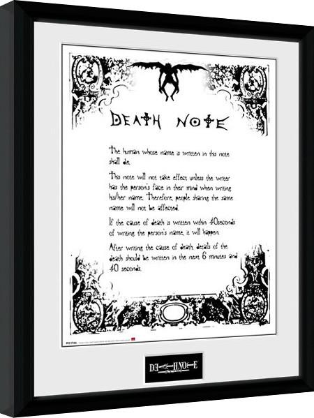 Poster enmarcado Death Note - Death Note
