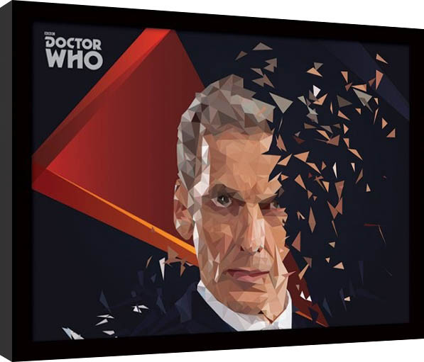 Doctor Who - 12th Doctor Geometric Poster enmarcado