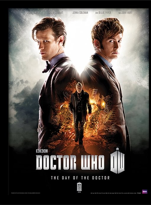 DOCTOR WHO - day of the doctor Poster enmarcado