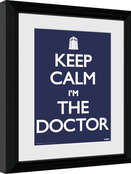 Doctor Who - Keep Calm Poster enmarcado