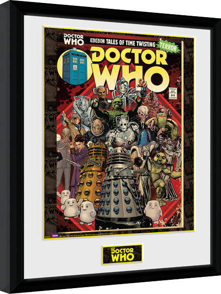Poster enmarcado Doctor Who - Villains Comic
