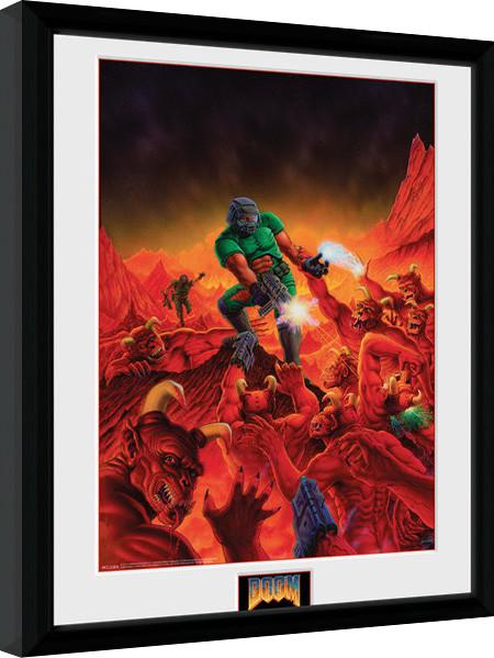 Poster enmarcado Doom - Classic Key Art
