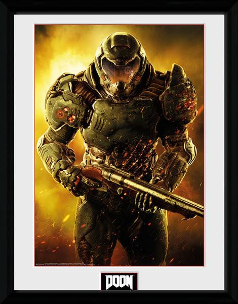 Poster enmarcado Doom - Marine